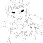 Blue Devil coloring book page