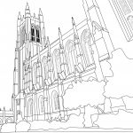 Duke Chapel coloring book page