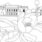 Lilly Library on East Campus coloring book page